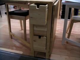 IKEA,無垢素材,家具,ゲートレッグテーブル,ドロップリーフテーブル,ワゴン,NORDEN
